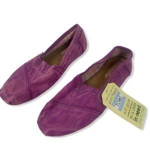 Toms Pink Purple Tie Dye Classic Slip On Flats